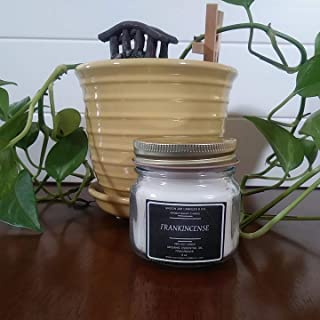 Aromatherapy Candle | 8 oz Frankincense Essential Oil Candle | Essential Oil Soy Candle | 100% Soy Wax | 100% Organic Essential Oil