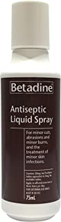 Betadine Antiseptic Spray - Treatment for minor cuts and abrasions - Treatment for minor skin infections, 75mL