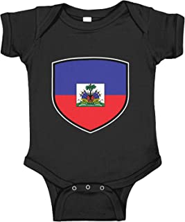 Amdesco Haiti Shield Haitian Flag Infant Bodysuit