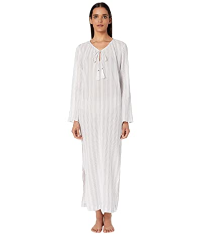 Skin Ines Cotton Caftan (White/Riviera Stripe) Women