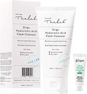 Blanc Doux Oligo Hyaluronic Acid Facial Foam Deep Hydrating Cleanser 4.05 fl. oz. for Dry, Sensitive Skin VEGAN Certified ...