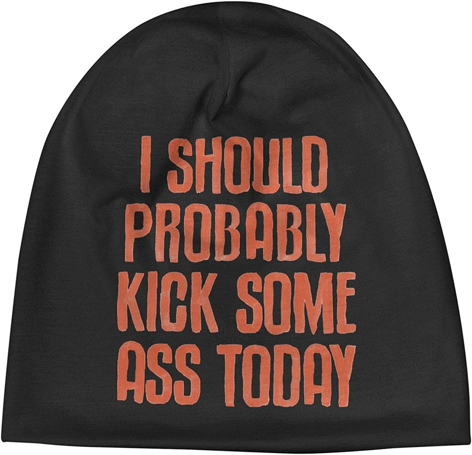 I Should Probably Mail order Kick Some Ass Unisex Slogan Cap Beanie Max 60% OFF Today3