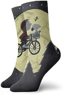 Christmas - Calcetines de compresión para hombre, diseño de Snoopy y Woodstock