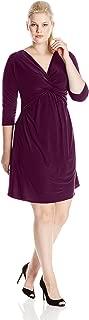 Women's Plus-Size Twist-Front Dress