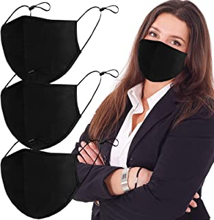 Black 3-Ply Reusable Fashion Protective, Facial Protection Washable Protector