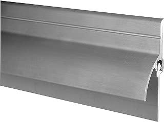 Pemko Door Bottom Sweep with Rain Drip, Mill Finish Aluminum with Gray Vinyl Insert, 0.5625