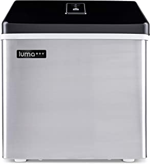 Luma Comfort Portable Clear Ice Maker 28 lb Daily, Perfect Countertop Icemaker Machine, IM200SS Stainless Steel