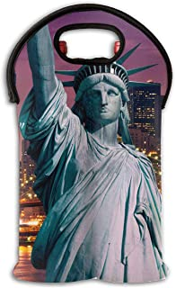 YYH Wine Tote Carrier Bag Statue of Liberty Purse for Champagne,Water Bottles
