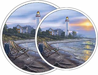 Reston Lloyd Electric Stove Burner Covers, Set of 4, A Perfect Day All-Over Pattern