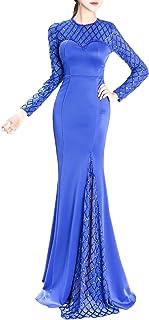(チェリーレッド) CherryRed レディース パーティードレス ロングドレス ワンピース 姫系ドレス 演奏会 発表会 セクシー XL Blue