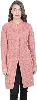 HAUTEMODA Women's Wool Round Neck Cardigan