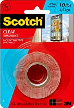 3M Company 410P 60x.045 Clear Mounting Tape, 6 Piece