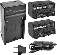 Bonacell NP-F750 Battery and Charger, Replacement Battery for Sony NP-F730, NP-F760, NP-F770, Compaitble with Sony CCD-TRV215 CCD-TR917 CCD-TR315 HDR-FX1000 HDR-FX7 HVR-V1U HVR-Z7U HVR-Z5U Camcorder