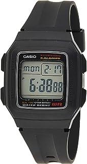 ساعة يد رقيمة من كاسيو مزودة بسوار مطاطي للأولاد F-201WA-1ADF