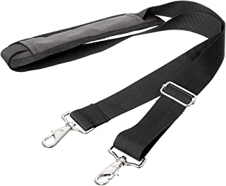 JAKAGO 155CM Replacement Shoulder Strap Padded Extra Long Universal Adjustable Bag Strap with Metal Swivel Hooks and Non-Slip Pad for Duffel Laptop Case Briefcase Camera Bag