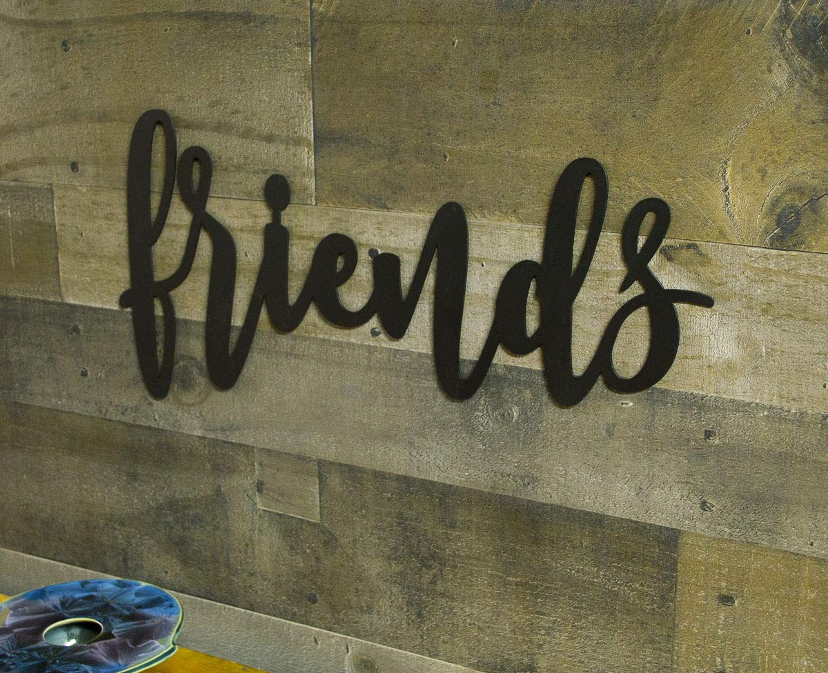 Friends Miami Mall Metal Sign Farmhouse Decor Wall Words Sayings Family Factory outlet