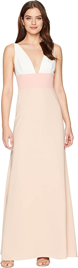 JILL JILL STUART - V-Neck Color Block Gown