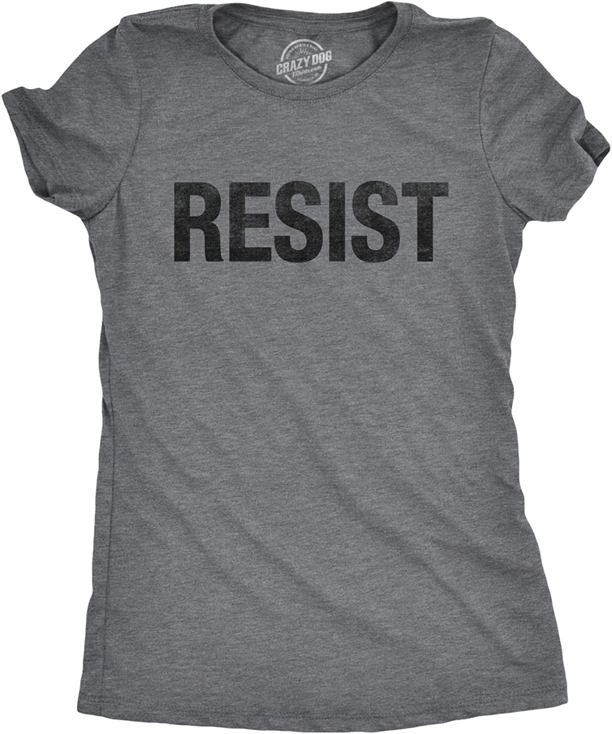Womens Resist T Shirt Political Anti Authority Protest Tee Rebel Rally March Tee