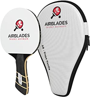 AirBlades Professional Ping Pong Paddle for Indoor and Outdoor Table Tennis with Carry Case