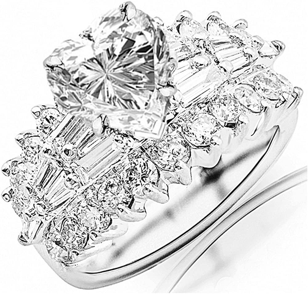 14K White Gold 6 Carat LAB CERTIFIED GROWN IGI Exquisite DIAMOND High material Brand new