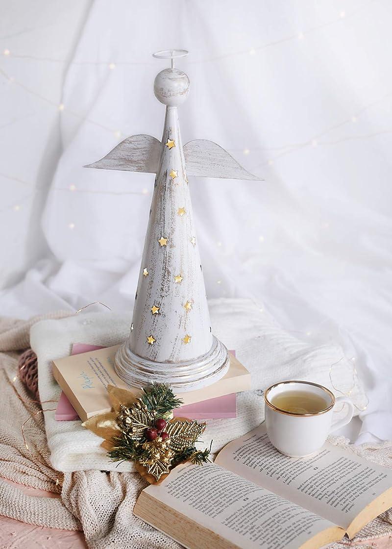ストレージ祝福する頭痛storeindya 感謝祭ギフト 天使の形をした金属製お香塔 クリスマス ホームデコレーション アクセサリーオーナメント 新築祝いのギフトに最適