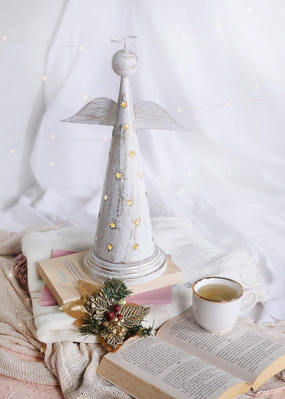コンテンポラリー分割遮るstoreindya 感謝祭ギフト 天使の形をした金属製お香塔 クリスマス ホームデコレーション アクセサリーオーナメント 新築祝いのギフトに最適