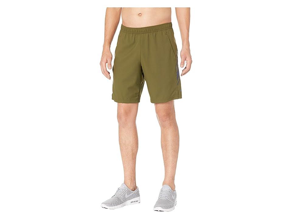 Nike NikeCourt Dry Shorts 9 (Olive Canvas/Gridiron/Gridiron) Men