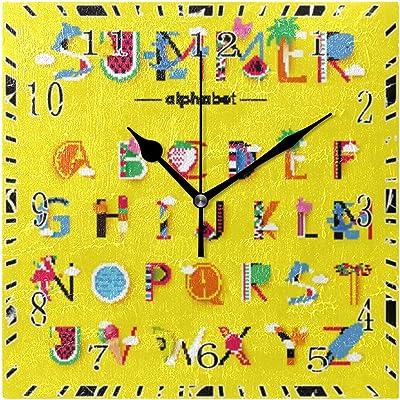 Amazon com: OMWEED Hand Drawn Pattern with Cute Lama Clock