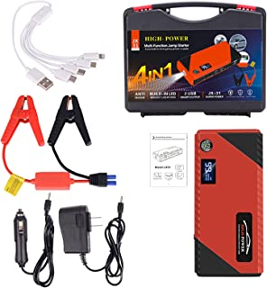 Car emergency starter,20000mAh peak car jumping starter power pack (up to all gas or diesel) portable mobile phone charge...