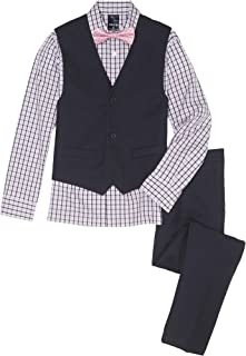 checkered shirt and bow tie