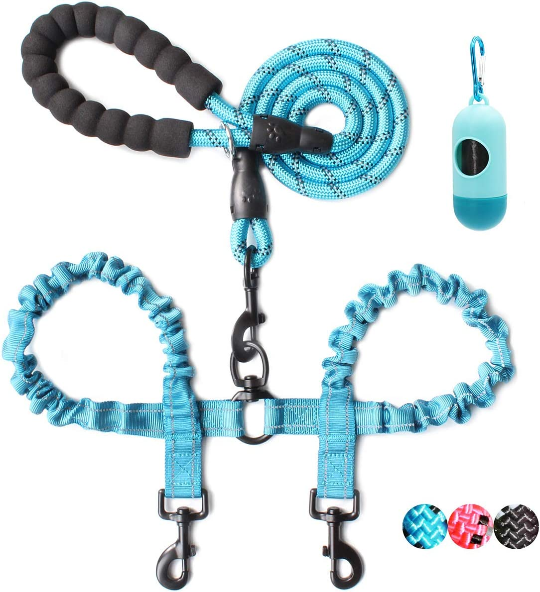 BAAPET Double Dog Leash 4 Manufacturer regenerated product FT Rope Tangle Free Sh Max 57% OFF with