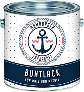 Buntlack MATT für Holz und Metall Weinrot RAL 3005 Rot Metalllack Metallfarbe Holzlack Holzfarbe // Hamburger Lack-Profi 1 L