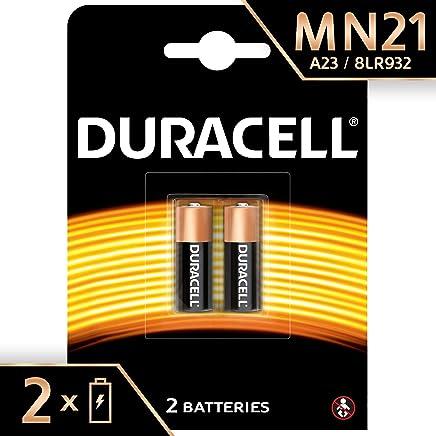 Duracell  MN21 - Pilas especiales alcalinas de 12V, A23/23A/V23GA/LRV08/8LR932, diseñadas para su uso en mandos a distancia, timbres inalámbricos y sistemas de seguridad, paquete de 2 unidades