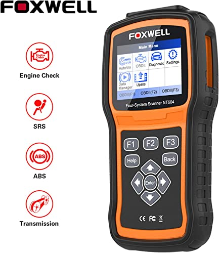 popular FOXWELL OBD2 outlet online sale Scanner NT604 Code Reader Check Engine ABS SRS Transmission [2020 New new arrival Arival] ABS Automotive Scan Tool Air Bag SRS Scanner Car Diagnostic Tool for All Vehicles Turn Off Check Engine Light sale