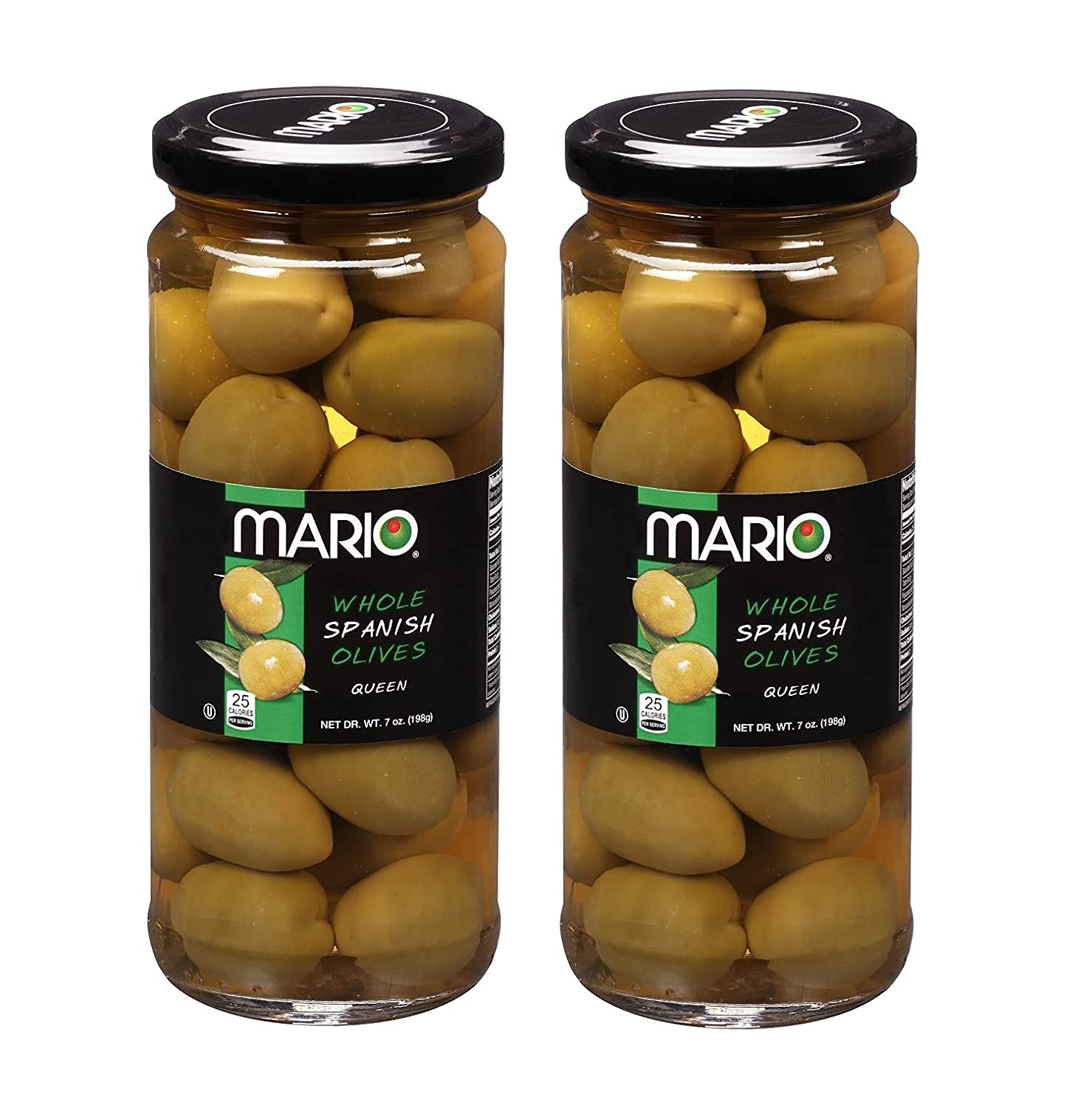 Sale Special Price MARIO Whole Spanish Queen Max 60% OFF Olives 2 Jars 198g each 7oz Glass