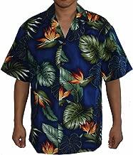 Alohawears Clothing Company Made in Hawaii ! Men's Bird Flower Monstera Leaves Hawaiian Aloha Shirt