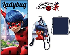 Suncity Toalla Playa Ladybug 70x140cm 84/% algod/ón 14/% Polyester 2/% visco