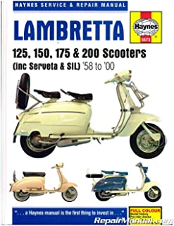 H5573 1958-2000 Lambretta 125 150 175 200 Scooter Repair Manual by Haynes