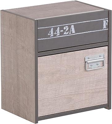 Parisot Schreibtisch Biotiful 8 weiß rosa 121x77x65