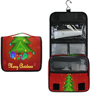 Travel Hanging Toiletry Bag Christmas Wallpapers Cosmetic, Makeup and Toiletries Organizer | Compact Bathroom Storage | Home, Gym, Airplane, Hotel, Car Use