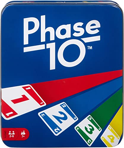 Phase 10 Card Game with 108 Cards, Makes a Great Gift for Kids, Family or Adult Game Night, Ages 7 Years and Older [A...