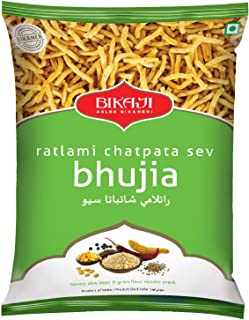 Bikaji Ratlami Chatpata Sev Bhujia, Spicy Fried Noodle, Ready to Eat Spicy Mix, Indian Namkeen Snack, Fresh and Crispy - 400 grams