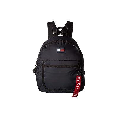 Tommy Hilfiger Crewe Nylon Backpack (Black) Backpack Bags