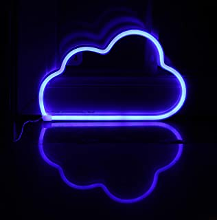 LED Neon Signs Blue Cloud Wall Decorative Night Light for Kids Bedroom Battery and USB Powered Home Decor Neon Light Birthday Gift(NECLDB)