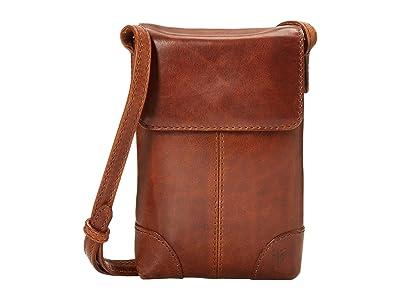 Frye Melissa Lanyard Phone Wallet Crossbody (Cognac) Handbags