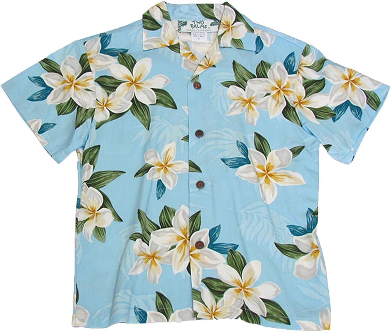 Two Palms Boy's Plumeria Shower Rayon Shirt