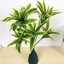 JIAN 36 cm 3 hoofden kunstmatige palmboom plastic bamboe tak tropische ingemaakte planten nep gras voor thuis desktop plan...