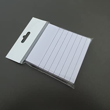 Creatiburg White Sticky Notes Lined 3x3 inches 12 Pads/Pack 100 Sheets/Pad White Self-Stick Note Pads with Lines, Easy Post I