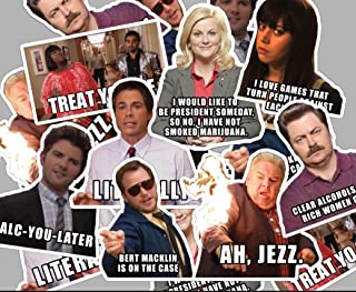Parks and Recreation Sticker Set with Quotes **Water Proof Stickers**