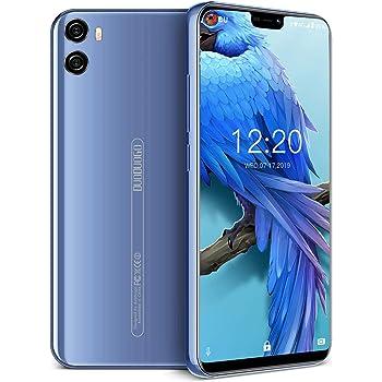 Moviles Libres 4G, Smartphone Libre Dual SIM 5.85 Pulgadas 4GB RAM+64GB ROM/128GB Android 8.1 Quad Core 4200mAh Cámara 12MP+5MP Moviles Buenos (Azul): Amazon.es: Electrónica